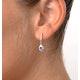 Tanzanite 0.28CT And Diamond 9K Yellow Gold Earrings - image 4