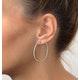 9KW Diamond Hoop Earrings 1ct - image 2