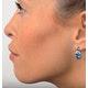 Blue Topaz 4.58CT And Diamond 9K White Gold Earrings - image 4