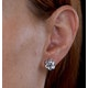 Stellato Collection Blue Topaz Earrings in 9K White Gold - image 4