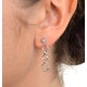 0.07ct Diamond and 9K White Gold Earrings - H4559 - image 4