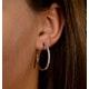 Hoop Earrings 30mm Diamond and 9K White Gold H4569 - image 4