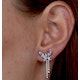 Pink Sapphire and Diamond Stellato Butterfly Earrings in 9K White Gold - image 4