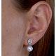 7.5mm Pearl Blue Topaz and Diamond Stellato Earrings in 9K White Gold - image 4