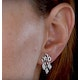 Stellato Collection Diamond Chandelier Earrings 0.12ct 9K White Gold - image 4