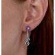 Amethyst Blue Topaz and Diamond Stellato Earrings in 9K White Gold - image 4