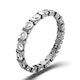 Eternity Ring Hannah 18K White Gold Diamond 1.00ct H/Si - image 1