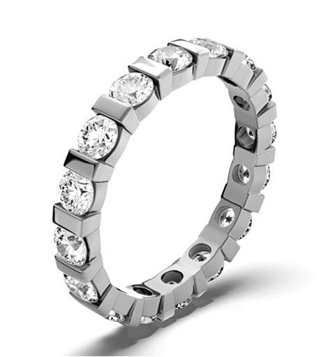 Eternity Ring Hannah 18K White Gold Diamond 3.00ct H/Si - image 1