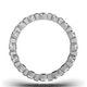 Eternity Ring Hannah 18K White Gold Diamond 3.00ct H/Si - image 3
