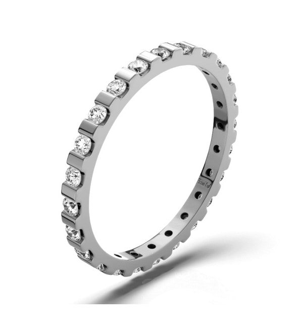 Eternity Ring Hannah 18K White Gold Diamond 0.50ct H/Si - image 1