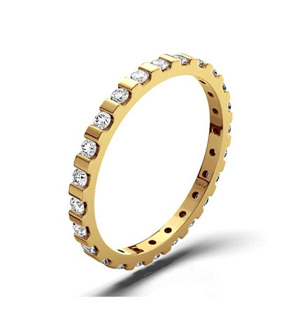 Eternity Ring Hannah 18K Gold Diamond 0.50ct G/Vs - image 1
