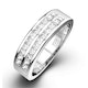 HOLLY 18K White Gold Diamond ETERNITY RING 1.00CT G/VS - image 1