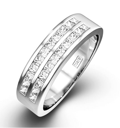 HOLLY 18K White Gold Diamond ETERNITY RING 0.50CT H/SI - image 1