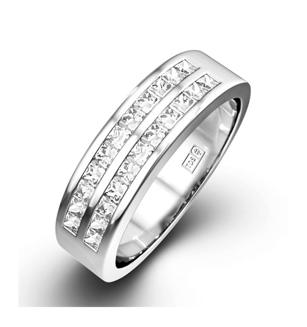 HOLLY PLATINUM Diamond ETERNITY RING 0.50CT H/SI - image 1