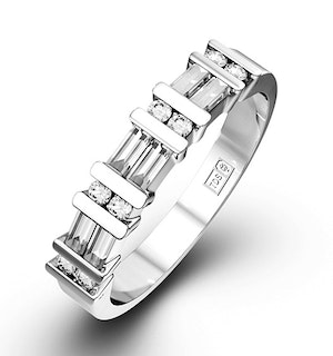 JESSICA PLATINUM Diamond ETERNITY RING 1.00CT H/SI