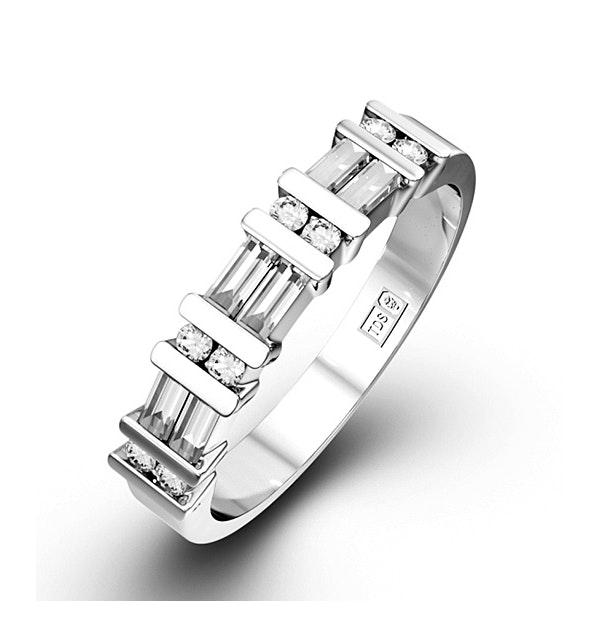 JESSICA 18K White Gold Diamond ETERNITY RING 0.50CT H/SI - image 1