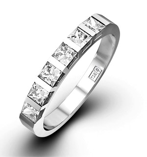OLIVIA PLATINUM Diamond ETERNITY RING 0.50CT H/SI