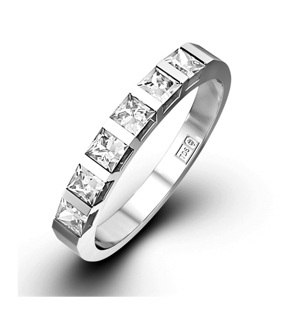 OLIVIA PLATINUM Diamond ETERNITY RING 1.00CT G/VS - image 1