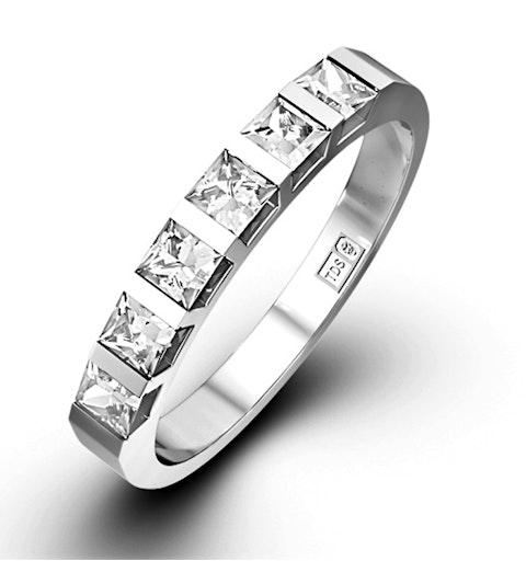 OLIVIA 18K White Gold Diamond ETERNITY RING 0.50CT G/VS - image 1