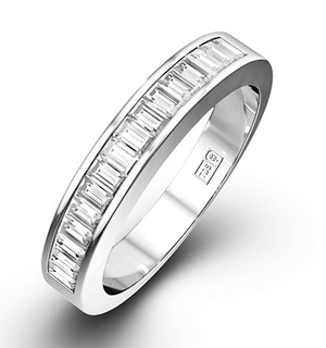 GRACE PLATINUM Diamond ETERNITY RING 0.50CT H/SI