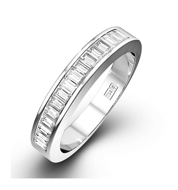 GRACE 18K White Gold Diamond ETERNITY RING 0.50CT G/VS - image 1
