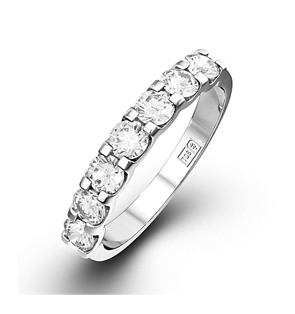 CHLOE 18K White Gold Diamond ETERNITY RING 0.50CT H/SI - image 1
