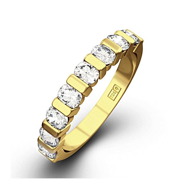 HANNAH 18K Gold Diamond ETERNITY RING 0.50CT H/SI - image 1