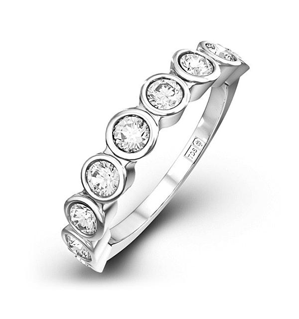 EMILY 18K White Gold Diamond ETERNITY RING 1.00CT H/SI - image 1