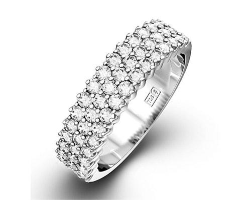 Jasmine Half Eternity Rings