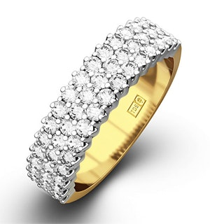 JASMINE 18K Gold Diamond ETERNITY RING 1.00CT H/SI
