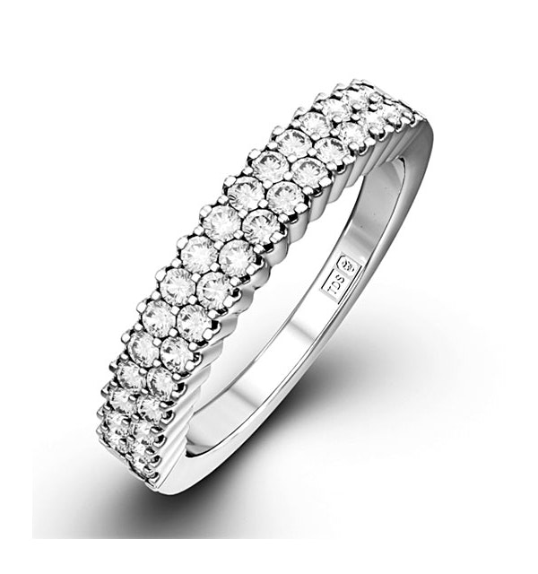 SOPHIE 18K White Gold Diamond ETERNITY RING 0.50CT H/SI - image 1