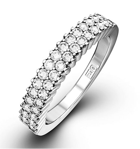 SOPHIE 18K White Gold Diamond ETERNITY RING 0.50CT G/VS - image 1