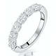 Helene Diamond Eternity Ring Oval Cut 0.87ct VVs 18KW Size H-I - image 1