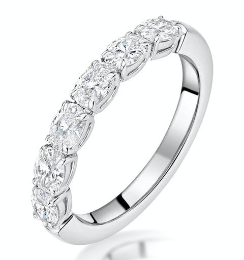 Helene Diamond Eternity Ring Oval Cut 1.1ct VVs 18KW Size J-N - image 1