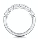 Helene Diamond Eternity Ring Oval Cut 1.1ct VVs 18KW Size J-N - image 3