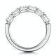 Helene Diamond Eternity Ring Oval Cut 1.1ct VVs Platinum Size J-N - image 3