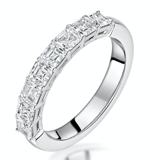 Simone Diamond Eternity Ring Asscher Cut 1.6ct VVs Platinum Size J-N