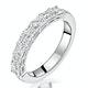 Simone Diamond Eternity Ring Asscher Cut 1.6ct VVs Platinum Size J-N - image 1