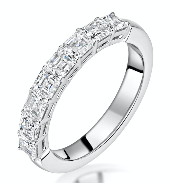 Simone Diamond Eternity Ring Asscher Cut 1.92ct VVs 18KW Size O-W - image 1