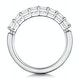 Simone Diamond Eternity Ring Asscher Cut 1.92ct VVs 18KW Size O-W - image 3