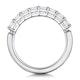 Simone Diamond Eternity Ring Asscher Cut 1.6ct VVs Platinum Size J-N - image 3
