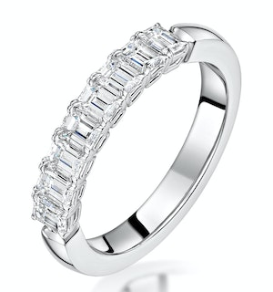 Norah Diamond Eternity Ring Emerald Cut 1.65ct VVs Platinum Size O-W