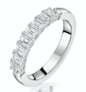 Norah Diamond Eternity Ring Emerald Cut 1.15ct VVs 18KW Size H-I