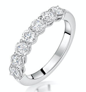 Lenora Diamond Eternity Ring Round Cut 1.29ct VVs 18KW Size H-I
