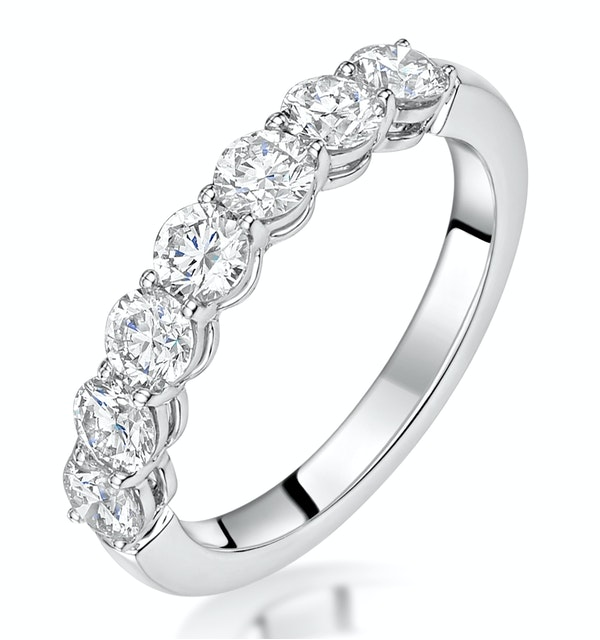 Lenora Diamond Eternity Ring Round Cut 1.29ct VVs 18KW Size H-I - image 1