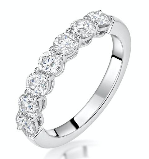Lenora Diamond Eternity Ring Round Cut 1.8ct VVs Platinum Size J-N - image 1
