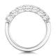 Lenora Diamond Eternity Ring Round Cut 1.8ct VVs Platinum Size J-N - image 3
