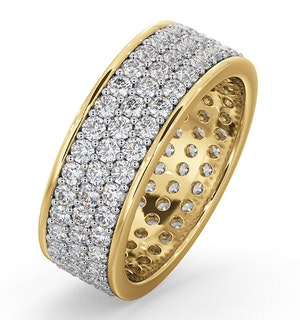 Eternity Ring Tia 18Ky Diamond 2.00ct H/Si