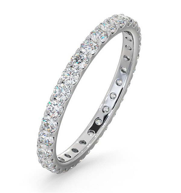 Erin Lab Diamond Pave Eternity Ring Platinum 1.00ct H/Si - image 1