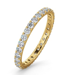 Erin Lab Diamond Pave Eternity Ring 18K Gold 1.00ct H/Si